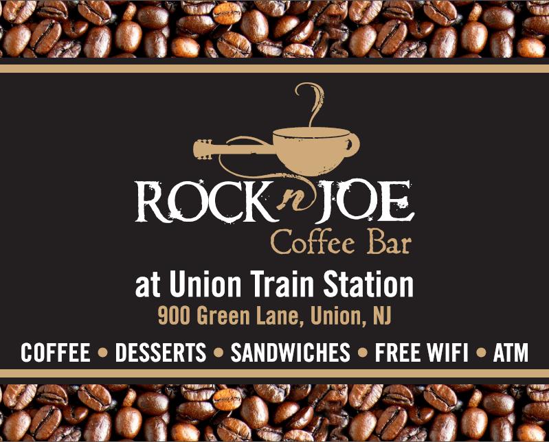 Rock 'n' Joe, Union, NJ, Train Station, Logo