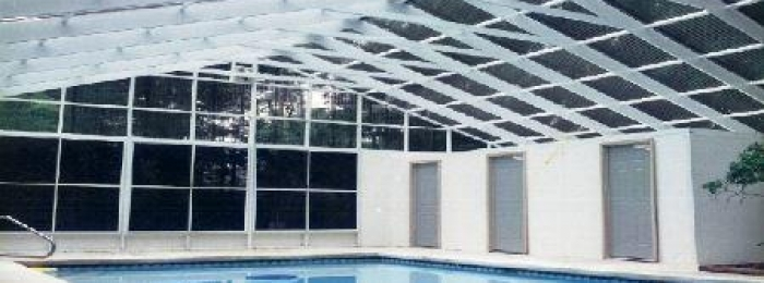 screen pool enclosure, pool cage, pool screen