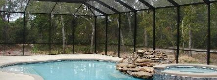 pool screen, screen pool enclosure, bird cage
