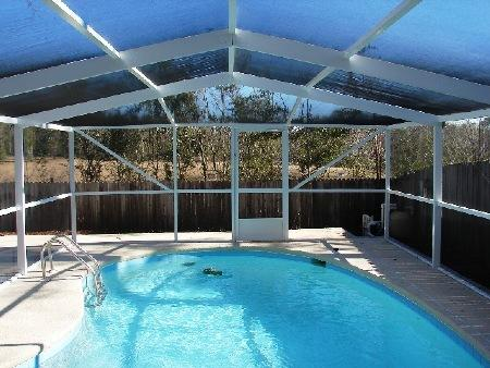 pool enclosure, screen pool