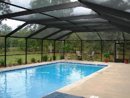 screen pool enclosure, pool cage, bird cage, pool screen
