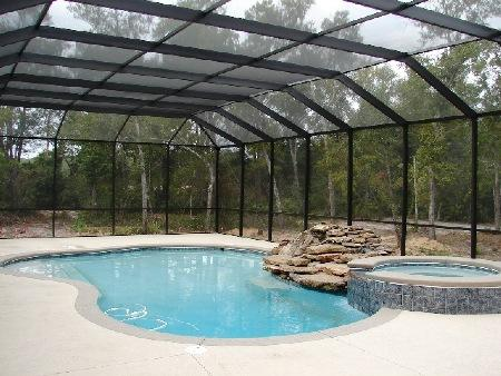 pool screen, pool enclosure,