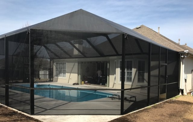 screen pool enclosure, screen pool, bird cage