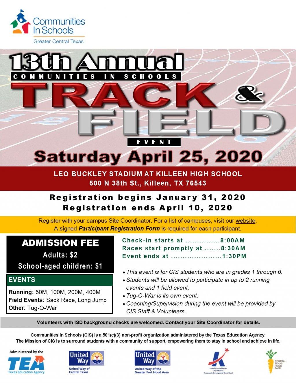 13th Annual CIS Track & Field Event